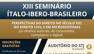 XIII SEMINÁRIO INTERNACIONAL ÍTALO-IBERO-BRASILEIRO DE...